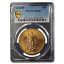 1923-D $20 Saint-Gaudens Gold Double Eagle MS-66+ PCGS