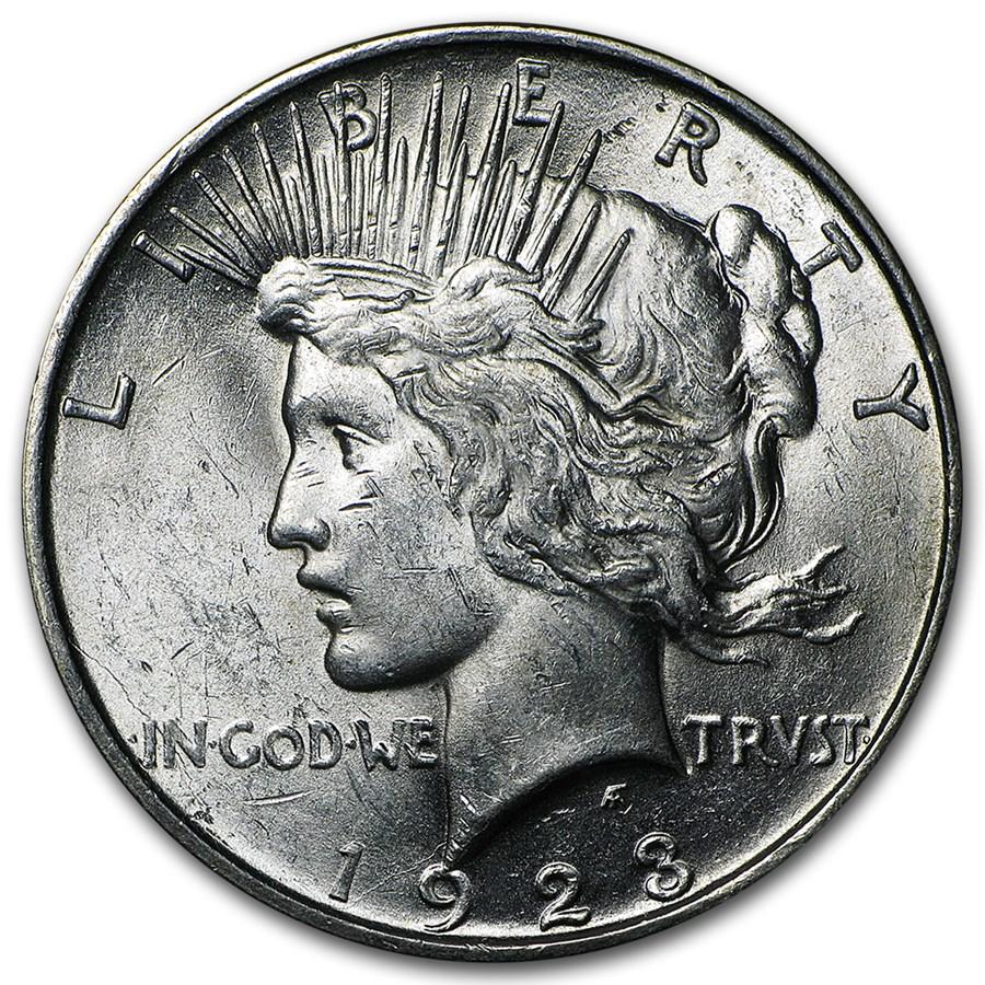 1923-D Peace Dollar AU