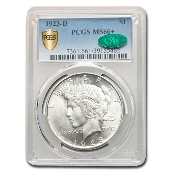 1923-D Peace Dollar MS-66+ PCGS CAC