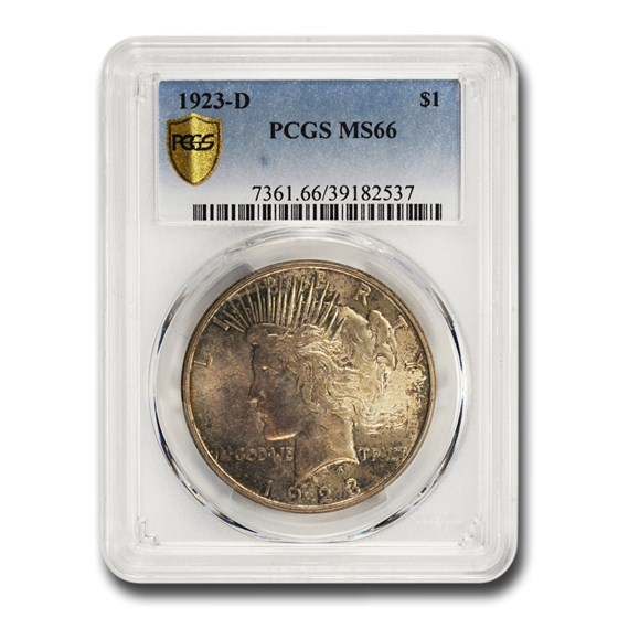 1923-D Peace Dollar MS-66 PCGS