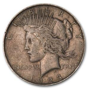 1923-D Peace Dollar VF (VAM-1E, Extra Hair)