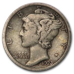 1923 Mercury Dime XF