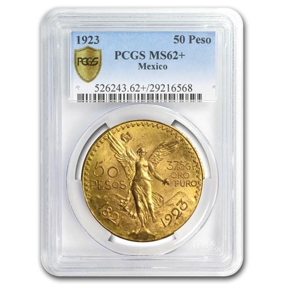 1923 Mexico Gold 50 Pesos MS-62+ PCGS