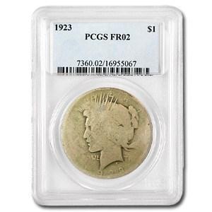 1923 Peace Dollar Fair-2 PCGS (Low Ball Registry)