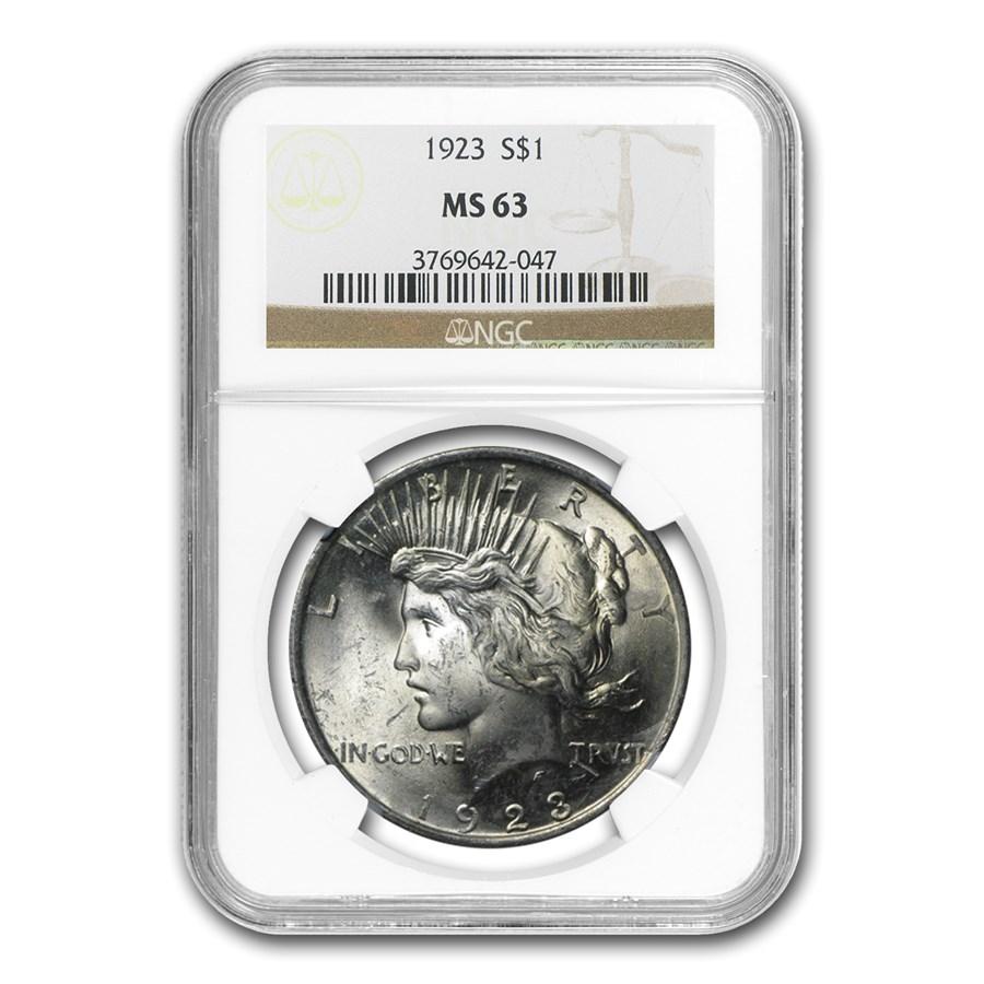 1923 Peace Dollar MS-63 NGC
