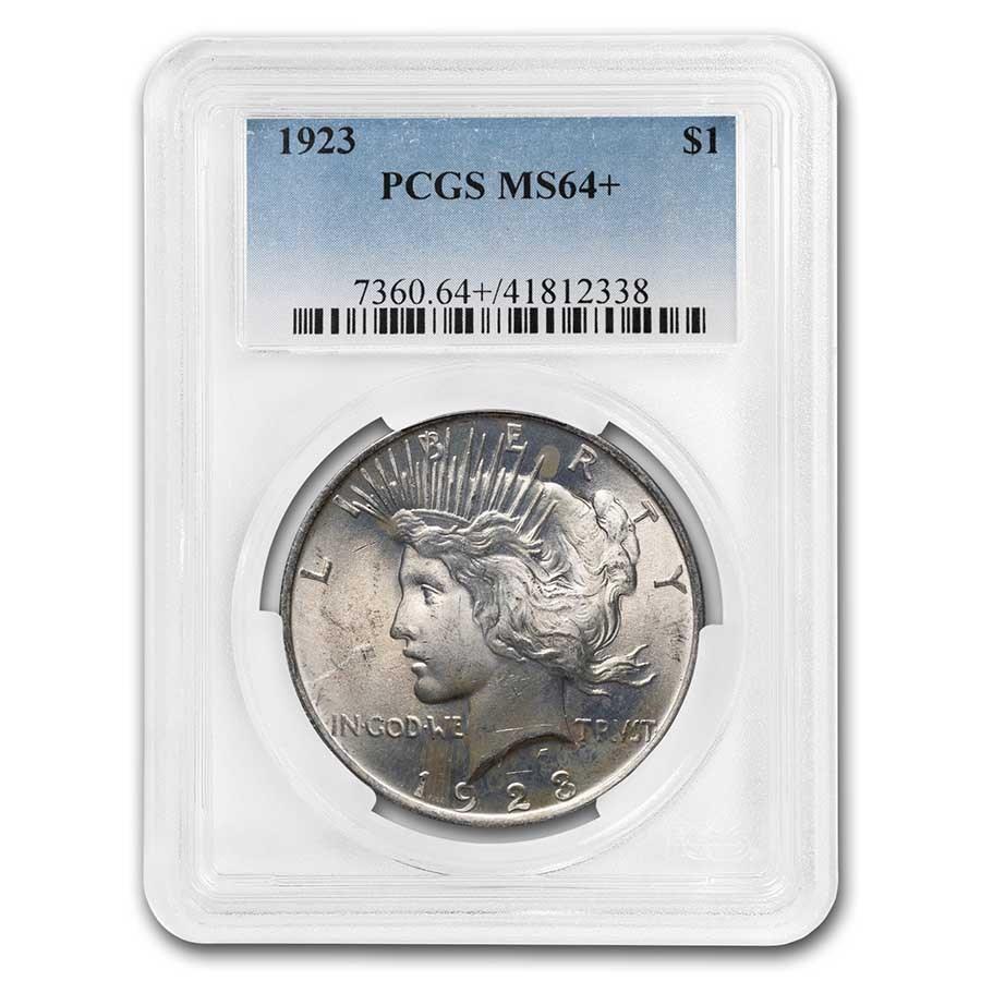1923 Peace Dollar MS-64+ PCGS