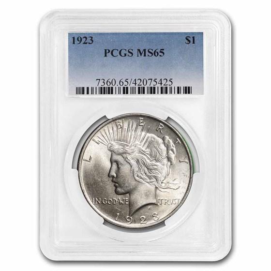1923 Peace Dollar MS-65 PCGS