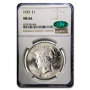 1923 Peace Dollar MS-66 NGC CAC