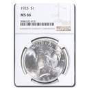 1923 Peace Dollar MS-66 NGC