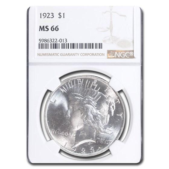 1923 Peace Dollar MS-66 NGC