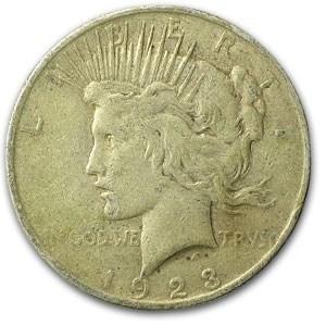 1923 Peace Dollar VF (VAM-1E, Broken Wing, Top-50)