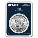 1923 Peace Silver Dollar APMEX Card AU