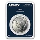 1923 Peace Silver Dollar APMEX Card BU