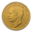 1923-R Italy Gold 100 Lire Vittorio Emanuele III MS-62 Matte NGC