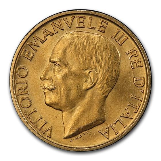 1923-R Italy Gold 20 Lire Vittorio Emanuele III MS-64 PCGS