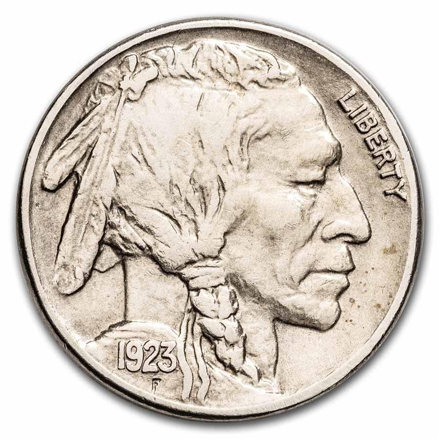 1923-S Buffalo Nickel AU Details (Cleaned)