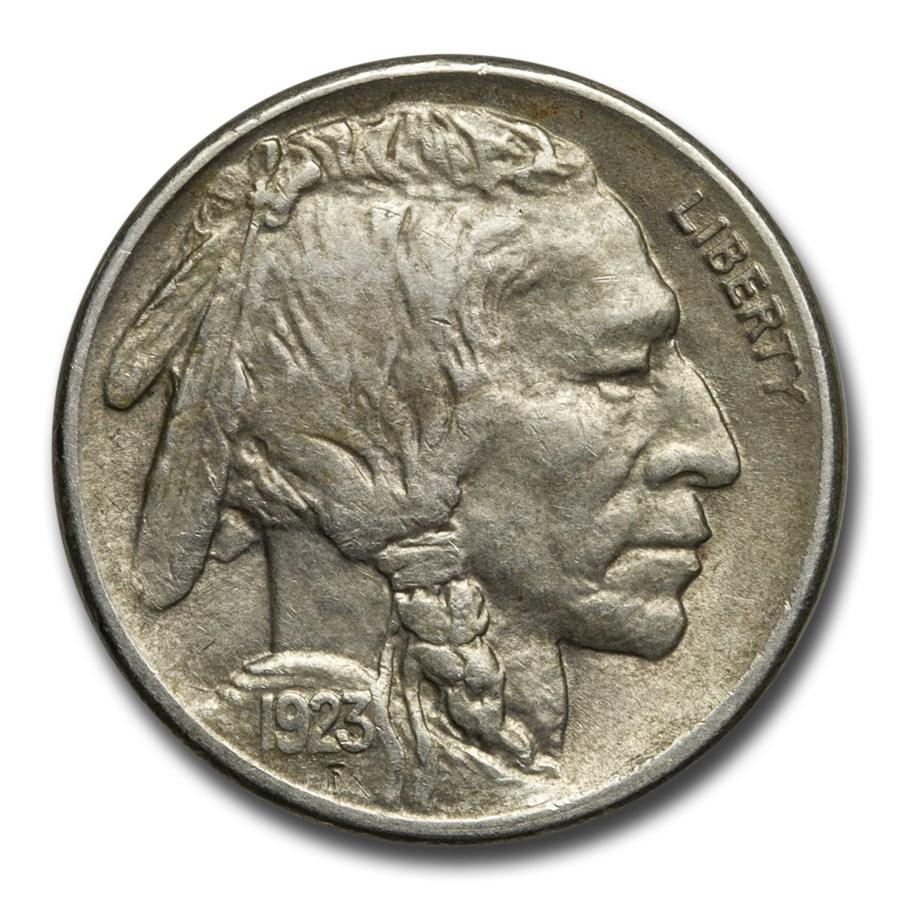 1923-S Buffalo Nickel AU