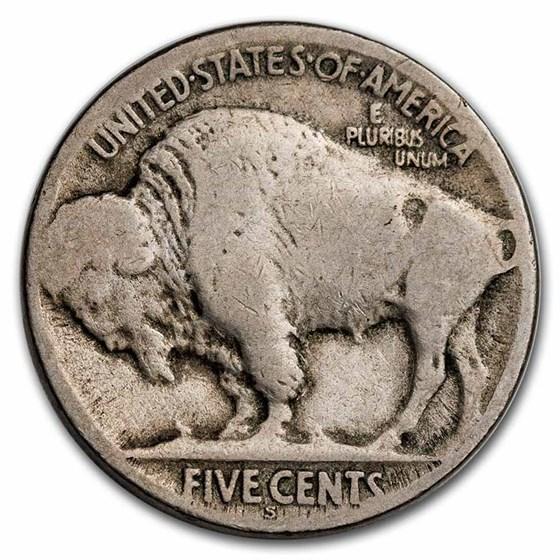 1923-S Buffalo Nickel Good