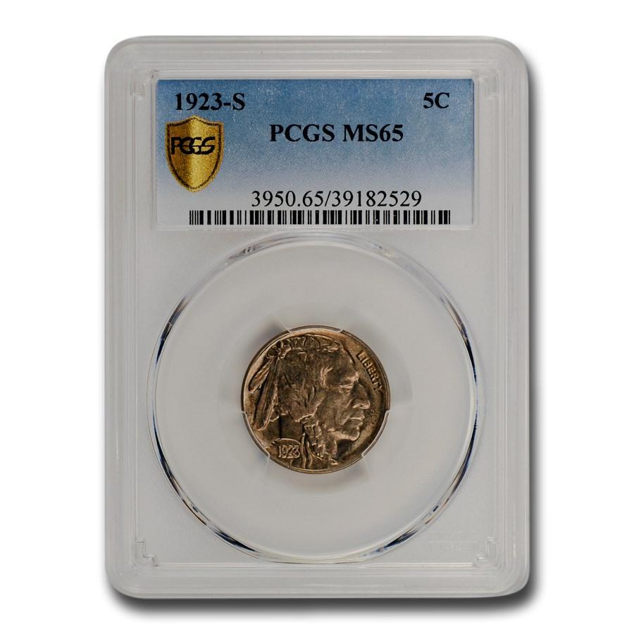 1923-S Buffalo Nickel MS-65 PCGS