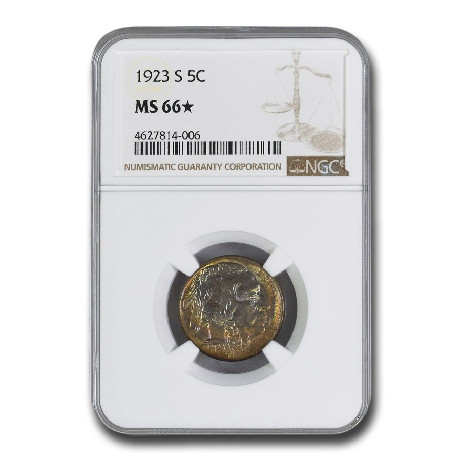1923-S Buffalo Nickel MS-66* NGC