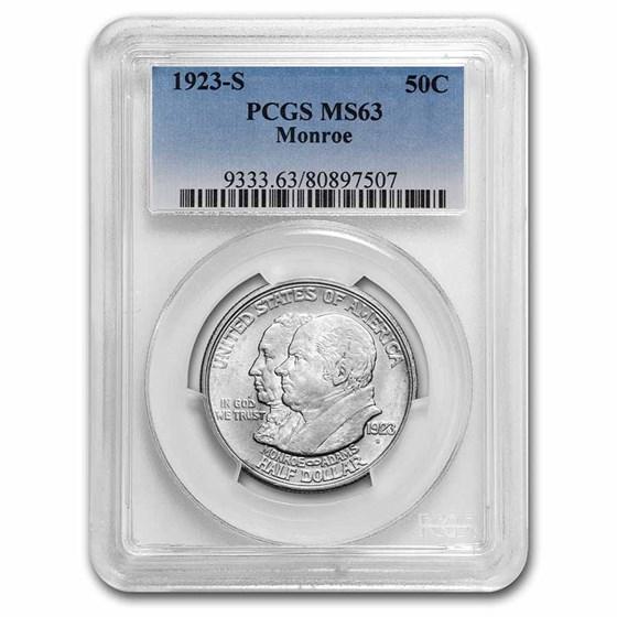 1923-S Monroe Doctrine Commem Half Dollar MS-63 PCGS