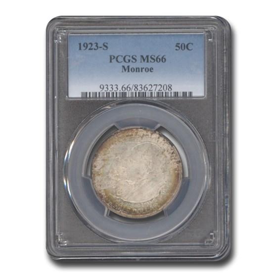 1923-S Monroe Doctrine Commem Half Dollar MS-66 PCGS