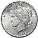 1923-S Peace Dollar AU-58