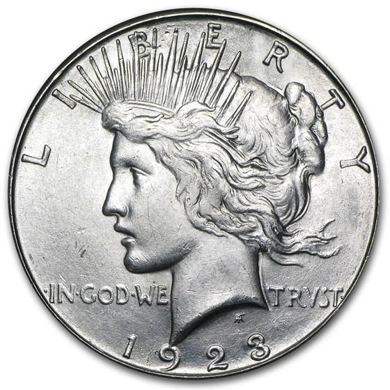 1923-S Peace Dollar BU