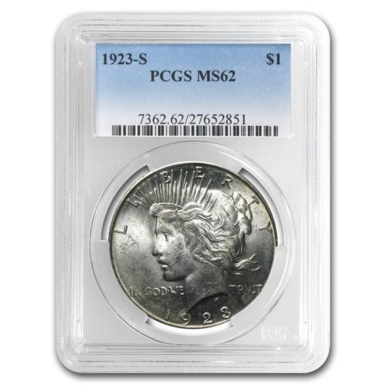 1923-S Peace Dollar MS-62 PCGS