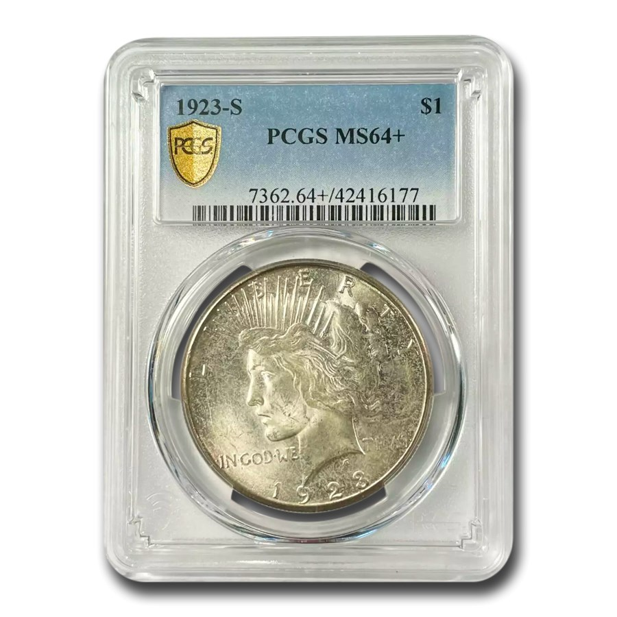 1923-S Peace Dollar MS-64+ PCGS