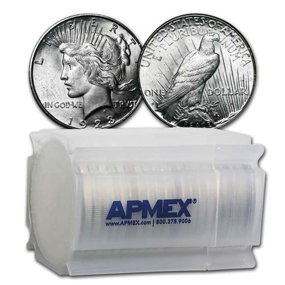 1923-S Peace Silver Dollars BU (20-Coin Roll)