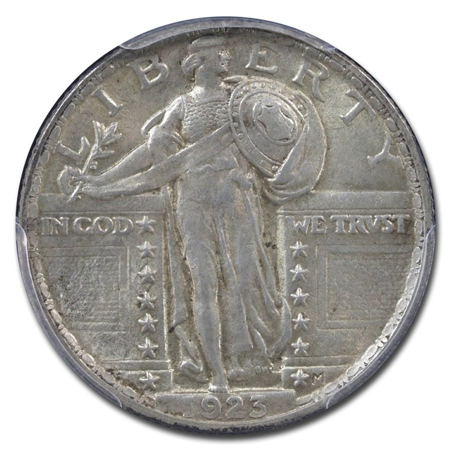 1923 Standing Liberty Quarter AU-58 PCGS