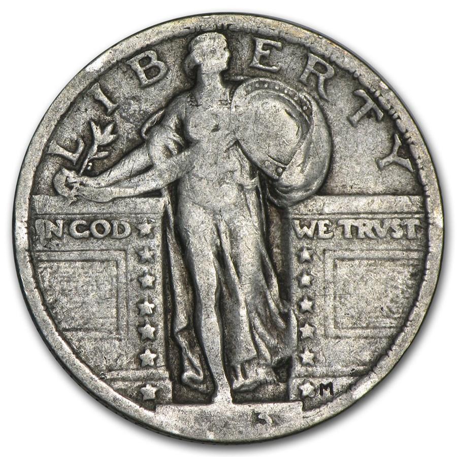 1923 Standing Liberty Quarter VF (Partial Date)