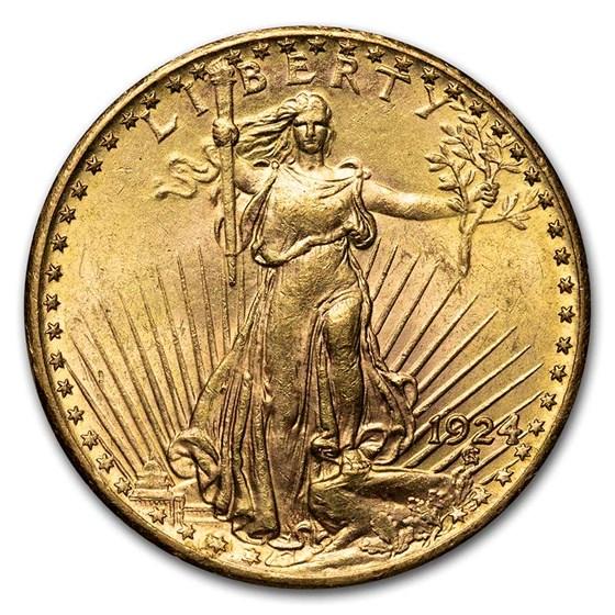 1924 $20 Saint-Gaudens Gold Double Eagle BU