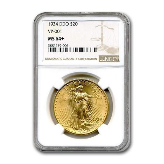 1924 $20 Saint-Gaudens Gold Double Eagle MS-64+ NGC (VP-001)