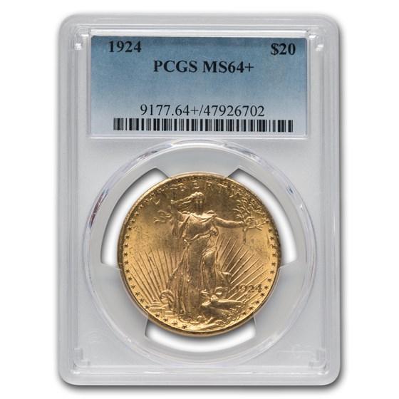 1924 $20 Saint-Gaudens Gold Double Eagle MS-64+ PCGS