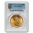 1924 $20 Saint-Gaudens Gold Double Eagle MS-66+ PCGS (Plus)