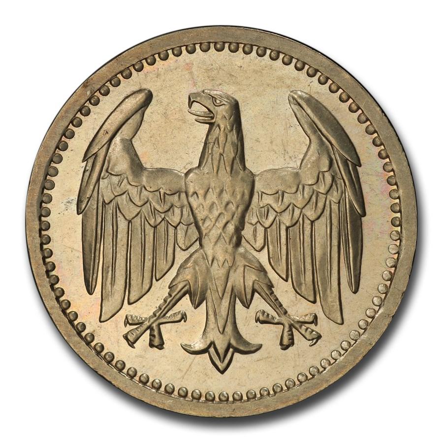 1924-A Germany Weimar Republic Silver 3 Mark PR-65 PCGS