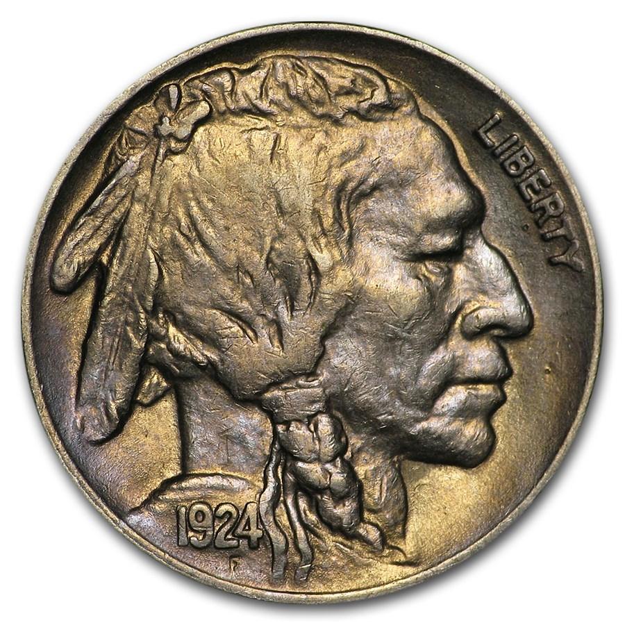 1924 Buffalo Nickel AU