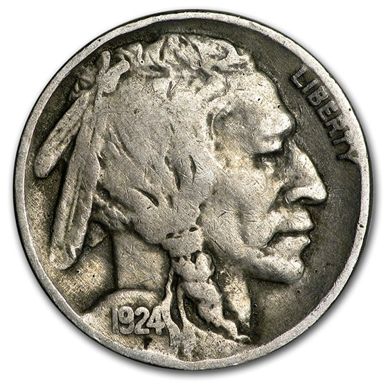 1924 Buffalo Nickel Good+
