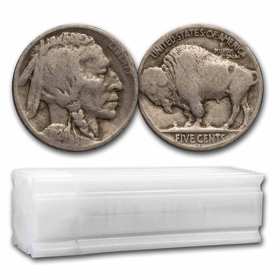 1924-D Buffalo Nickel 40-Coin Roll Avg Circ
