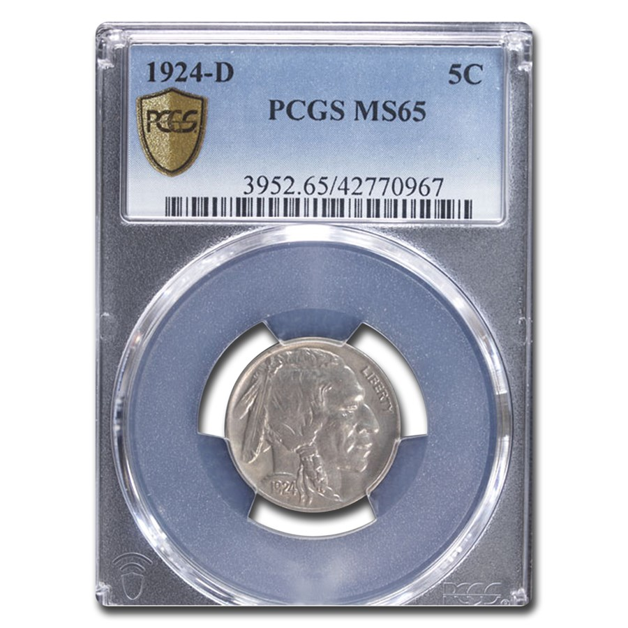 1924-D Buffalo Nickel MS-65 PCGS