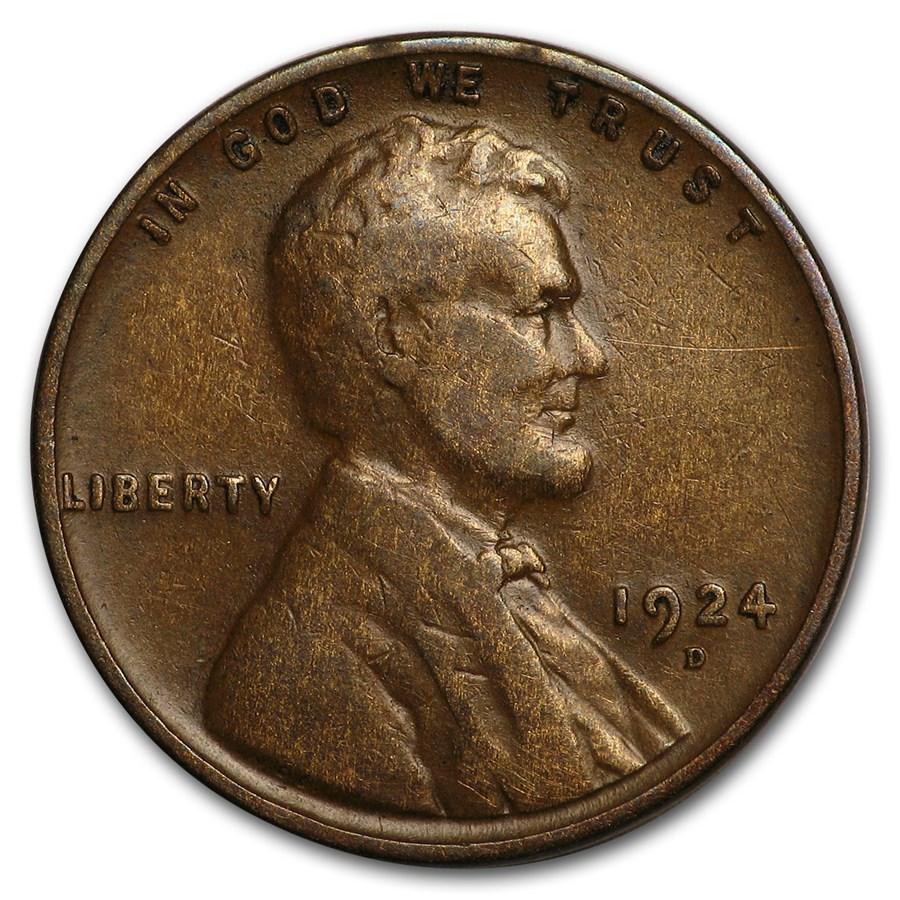 1924-D Lincoln Cent Fine