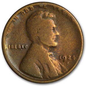 1924-D Lincoln Cent Good Details (Damaged)