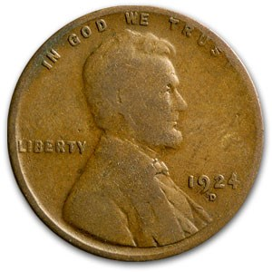 1924-D Lincoln Cent Good