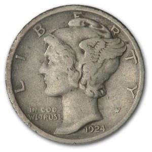 1924-D Mercury Dime VF