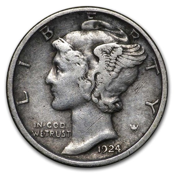 1924-D Mercury Dime XF