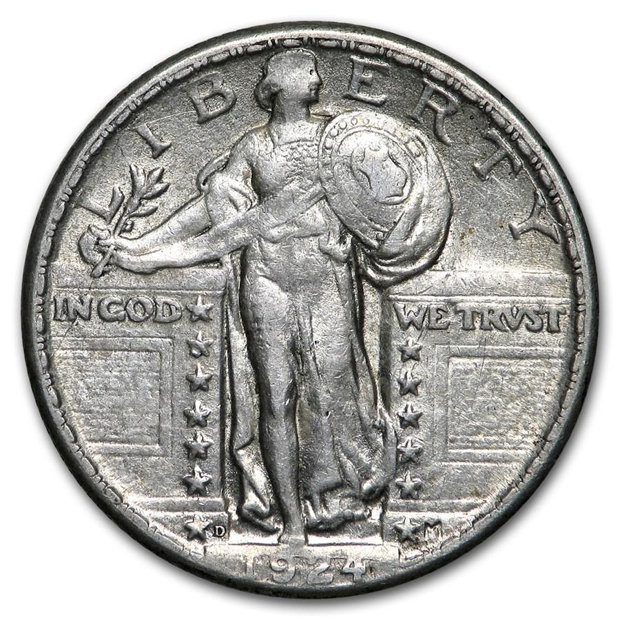 1924-D Standing Liberty Quarter AU