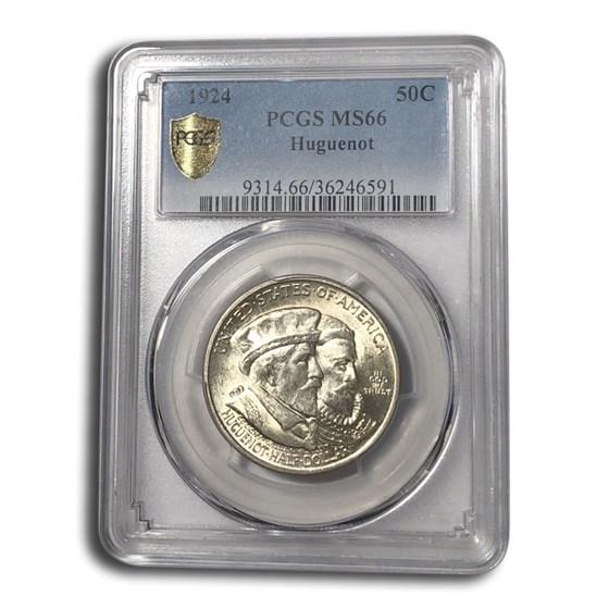 1924 Huguenot Commem Half Dollar MS-66 PCGS