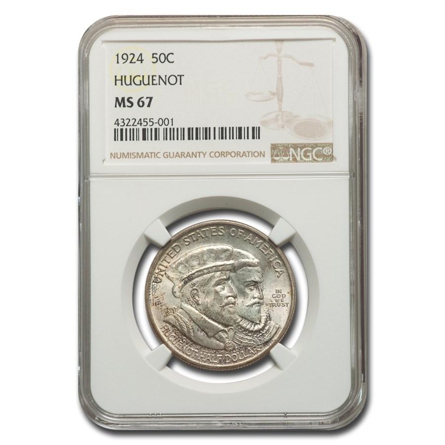 1924 Huguenot Half Dollar MS-67 NGC